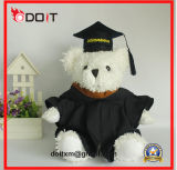 Oso del peluche de la graduación del oso de la graduación En71 en casquillo negro