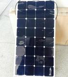 panneau solaire 100watt flexible pour des chariots, véhicules, yachts, bateaux, maison