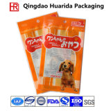 Sac de empaquetage stratifié d'aliment pour animaux familiers de papier d'aluminium avec la tirette