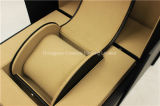 Rectángulo de empaquetado de la aduana de la PU de la sola visualización de cuero de lujo del reloj