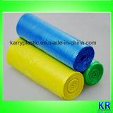 Sacolas descartáveis de HDPE Plat em rolo para coleção de lixo