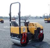 Compressor Vibratory do solo do cilindro dobro hidráulico pequeno da boa qualidade 1000kg