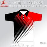 Healong China Hersteller-Kleidungs-Gang-Sublimation-Polyester-Polo-Hemden 100% für Verkauf