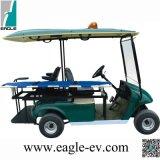 Ziekenwagen Kart, Zuivere Elektrisch, b.v. 2028tb1, met Brancard, Plastic Lichaam, 48V 4kw, de Motor van gelijkstroom