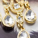 수정같은 유리 모조 다이아몬드는 오래 물 하락 결혼식 귀걸이를 매단다