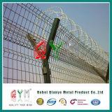 Pfosten-Stahlflughafen-Zaun der Sicherheits-Y mit Ziehharmonika-Stacheldraht