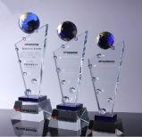 Trofeo modificado para requisitos particulares del vidrio cristalino con la bola