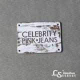 As mulheres Jeans PU Etiqueta de couro