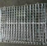 Gaiola Stackable de dobramento do armazenamento do recipiente do engranzamento de fio