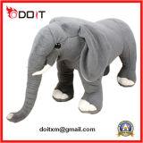 Animal enchido feito-à-medida do brinquedo macio cinzento do luxuoso do elefante En71