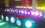 luzes da PARIDADE da cor da mistura de 4PCS/54 x de 3W para a luz do estágio do partido do disco da luz da música da lâmpada do partido do clube