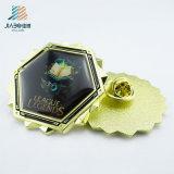 カスタム卸売価格の鋳造の金プリントエポキシ襟ピン
