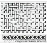 明白なオランダ人の織り方の金網