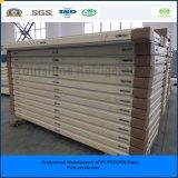 El panel modular de la azotea del emparedado del poliuretano de la cámara fría 100m m de la asamblea