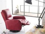 A cadeira moderna do braço do giro do sofá com empurra para trás