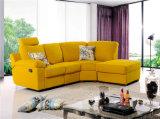 Sofás de couro de canto da tela do Recliner e colorida