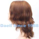 Peluca ondulada europea del pelo de Remy con la tapa francesa