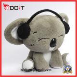 Pt71 Plush Koala Animal Plush Animal com microfone dos auscultadores