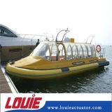 La tige de piston en acier inoxydable béquille à gaz avec extrémité de la bille de métal montage pour bateau de mer