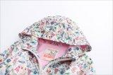 かわいい長い袖の女の子少し花の帽子のジャケット