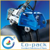 油圧自動クロールパイプカットと面取り機