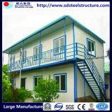 Casas Oficina-Prefabricadas del sitio modular de acero Hogar-Barato prefabricado
