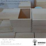 Hongdao unfertige natürliche Farben-hölzerner Geschenk-Kasten mit dem Schieben von Kappen-Großhandelspreis _E