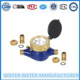 Medidor de água com acessórios de bronze