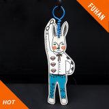 Impressão em forma de coelho personalizado Die Cut Gift Hang Tag