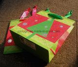 Sac de papier bon marché de cadeau de Noël estampé par coutume