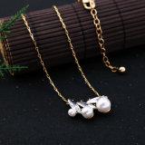 Nieuwe Goedkope Eenvoudige Retro Srystal besloeg de Lange Juwelen van de Tegenhanger van de Parel van de Halsband van de Legering van de Ketting
