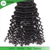 Extensão não processada do cabelo humano de Remy do cabelo do Virgin de 100% Weavon