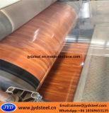Padrão de madeira PPGI bobina de aço com película de protecção de plástico