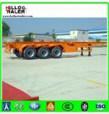 De op zwaar werk berekende 20FT 40FT 3 Aanhangwagen Chiassis van de Container van de As Flatbed Semi