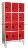 Cacifo do metal de pano de 12 portas/cacifo de aço/cacifo do armazenamento