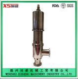 Vanne de secours de sécurité pneumatique hygiénique hygiénique Ss304 Ss316L de 38,1 mm en acier inoxydable