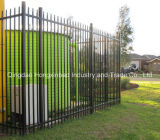 Garden Security Fence Welding Galvanized Steel Tubular Ornamental Fence