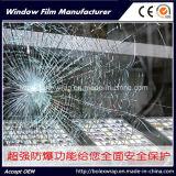 Pellicola trasparente della finestra di vendita 2mil della fabbrica, pellicola protettiva 1.52m*30m di protezione e sicurezza