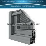 Fenêtre de protection en aluminium de couleur champagne avec barrière de sécurité