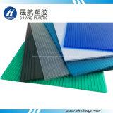 Feuille creuse enduite UV matérielle fraîche de toiture de polycarbonate de 100%