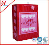 Glisterの粉を持つバレンタインのための3Dクラフトの紙袋