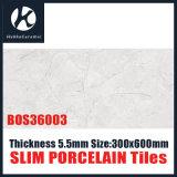 Tegels van het Porselein van het Ontwerp 300X600X5.5 van de Fabriek van Foshan de Nieuwe Super Dunne Dunne laag Opgepoetste
