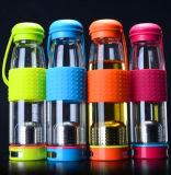 Gift van de Kop van het Glas van de Fles van het Glas van de Kop van de Sport van het glas past de Draagbare Veelkleurige de Kop van het Glas van het Embleem aan