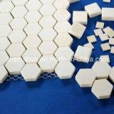 Mattonelle Hex della stuoia dell'allumina ad alta densità come fodera di ceramica