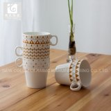 Taza de té amontonable de la porcelana de Liling 10oz 12oz 14oz