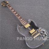 Гитара Sg Pango акриловая электрическая с светом СИД (PAL-004)