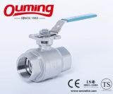 Surtidor profesional de China, vávula de bola inoxidable de flotación de la PC industrial 2 con el postizo de montaje