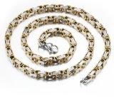 Ketting de Dikke Halsbanden van de Mensen van Europa en van Amerika van het Roestvrij staal van de Kleur van de Tegenhanger van de Halsband van Mens de Gouden/Zilveren