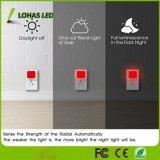 센서 밤 빛 화장실, 침실, 부엌을%s 날이 샐 것이다 황혼 빨간불 0.3W 자동 온/오프 LED 램프