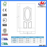 Coated прокатанная деревянная белая кожа двери (JHK-003)